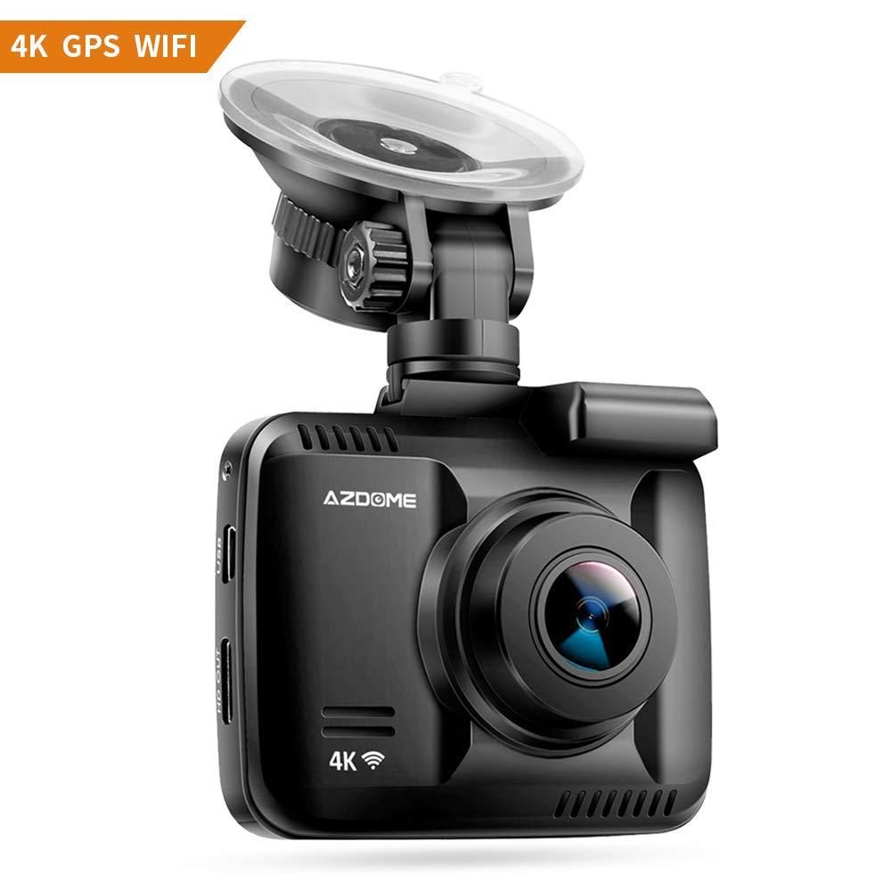 Cámara de Coche 4K 2160P con WiFi y GPS,Dashcam Grabadora Ultra HD ...