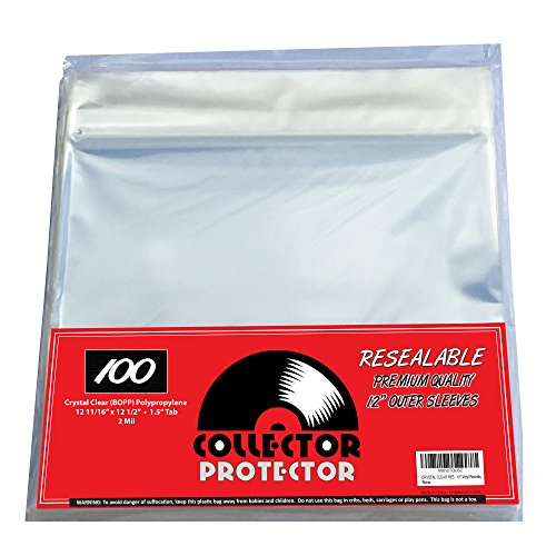 """Collector Protector Vinyl Record Sleeves for Your 12"""" Record Covers 