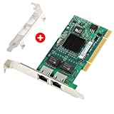 ZEXMTE Gigabit Ethernet PCI Network Controller Card 10/100/1000Mbps Dual Port RJ45 Ethernet Adapter Converter for Desktop PC