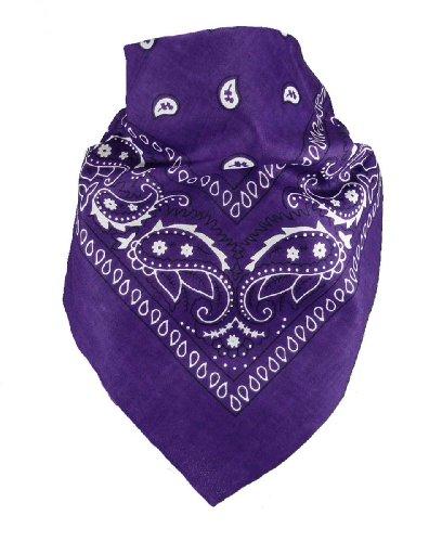 Harrys-Collection Unisex Bandana Bindetuch 100% Baumwolle (1 er 6 er oder 12 er Pack), Farbe:lila