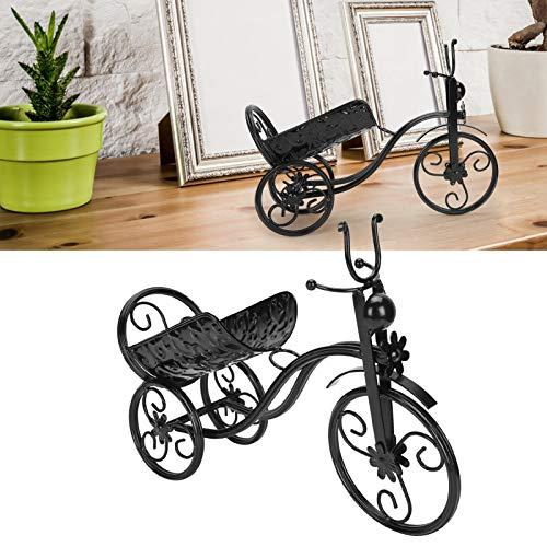 CUEA Soporte para Vino, botellero de Hierro con Forma de Triciclo, KTV para decoración del hogar, Barra de Bar, Bodega(Black)
