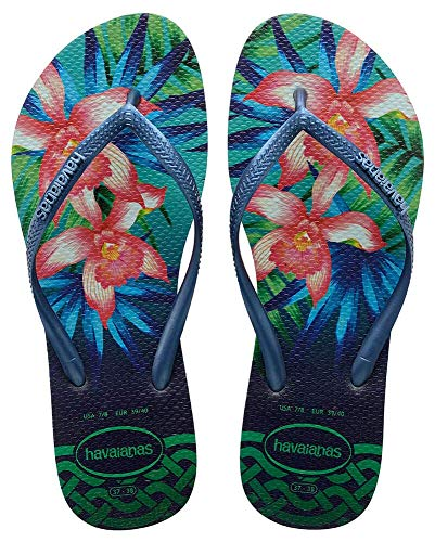 Havaianas Damen SLIM TROPICAL Zehentrenner, Grün (Mint Green), 39/40 EU