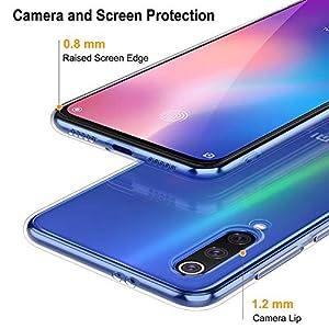 Peakally Funda Xiaomi Mi 9 SE, Transparente Silicona Funda para Xiaomi Mi 9 SE Carcasa Flexible Claro Ligero TPU Fundas [Antideslizante] [Resistente a arañazos]-Transparente