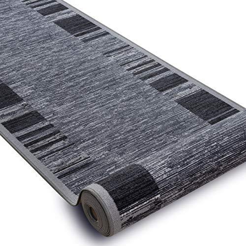 Passatoia Corridoio, Adagio, grigio, antiscivolo, per cucina, corridoio, soggiorno, robusto, moderno, 133x190 cm