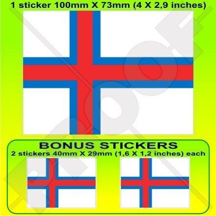Färöer-Inseln färöisch Flagge, Färöer Faeroes 10,2cm (100mm) Vinyl Bumper Aufkleber, Aufkleber X1+ 2Bonus