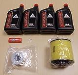 New 2004-2007 Honda TRX 400 TRX400FA TRX400AT Rancher Complete Oil Service Tune-Up Kit
