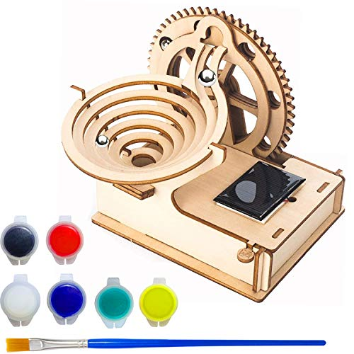 SHONCO Maquetas Madera, Puzzle 3D Madera, Mechanical Gears DIY Building Kit, 3D Laser-Cut Brain Teaser con Bolas para niños y Adultos