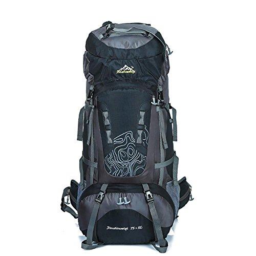 WYXIN75 L + 5 L sac à dos en plein air sac à dos étanche escalade pêche sac à dos randonnée randonnée sac de camping en plein air randonnée alpinisme sac, b
