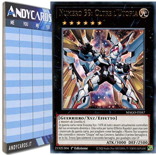 Andycards Yu-Gi-Oh! - NUMERO 39: OLTRE L'UTOPIA - Rara Oro MAGO-IT057 in ITALIANO + Segnapunti