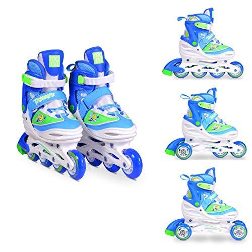 Moni Trade Ltd. Byox Inliner Kinder 3 in 1 Triskate blau Größe M 34-37 verstellbar, ABEC-5 Lager