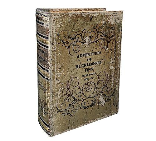 zeitzone Hohles Buch Geheimfach Huckleberry Finn Buchversteck Antik-Stil 33cm