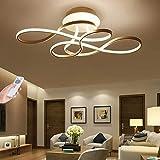 LED Deckenleuchte Wohnzimmerlampe Dimmbar Mit Fernbedienung Deckenlampe 100W Modern Decke Schlafzimmerlampe Acryl Lampenschirm Aluminium Design Lampe Für Esszimmerlampe Bürolampe Küchelampe,Gold