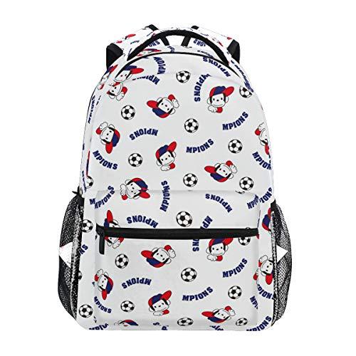 Calcio Balilla Scimmia Zaino per Bambini Zaini Ragazze Ragazzi Bookbag Borsa Capretto Zainetti per Studenti da Viaggio per Laptop
