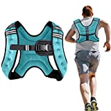 Henkelion Weighted Vest Weight Vest for Men Women Kids Weights Included, Body Weight Vests Adjustable for Running, Training Workout, Jogging, Walking - Blue - 6 Lbs