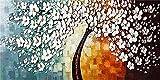 JHGJHK Planta Árbol Grande Árbol de la Vida Paisaje Abstracto Arte de la Pared Cartel escandinavo Impresión Pintura al óleo Sala de Estar Moderna Dormitorio Arte de la Pared Decoración 9
