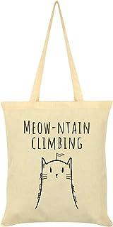 Women's Meow-Tain Climbing Tote Bag Cream 38x42cm