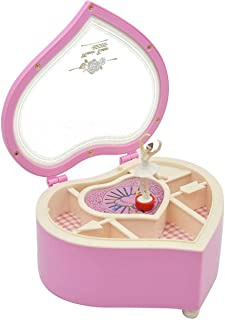 Music Boxes Ornaments Heart-shape Rotating Ballerina Girl Cool Home Decoration Accessories