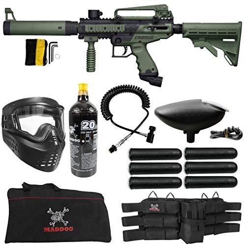 Maddog Tippmann Cronus Tactical Corporal CO2 Paintball Gun Marker Starter Package - Black/Olive
