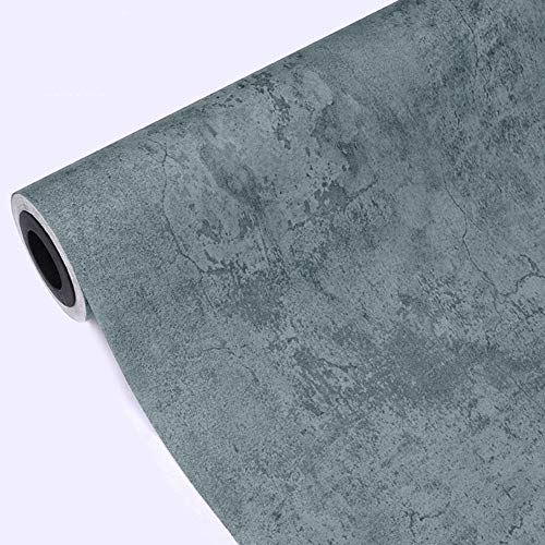 TRER Gray Cement Wall Paper-Moderne Unbedeutende Industrielle Wind-Tapete for Shop-Dekorations-Tapete (Color : C, Size : 393.7 * 20.87in)