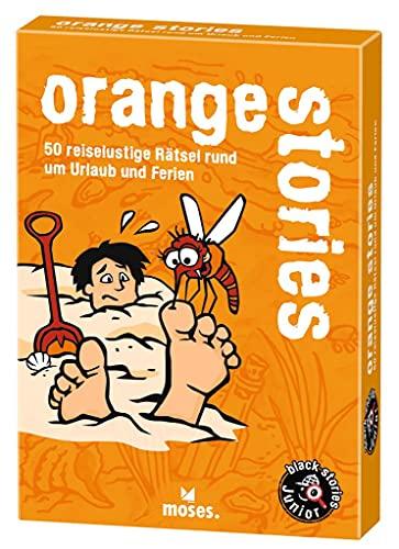 Moses black stories Junior orange stories, 50 reiselustige Rätsel, Das Rätsel Kartenspiel für Kinder