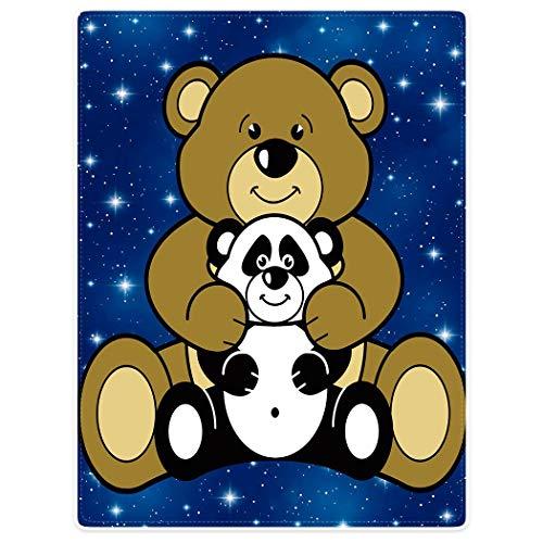 YISUMEI Decke 150x200 cm Kuscheldecken Sanft Flanell Weich Fleecedecke Tagesdecke Bär & Panda