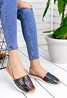 Pabucmarketi Kadın Comfort Terlik Sandalet Ayakkabı ER041