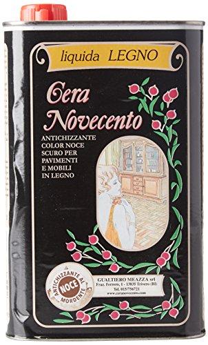 Cera Novecento X907 Cera Liquida Legno Tingente Antichizzante, Noce Antico, 1 litro