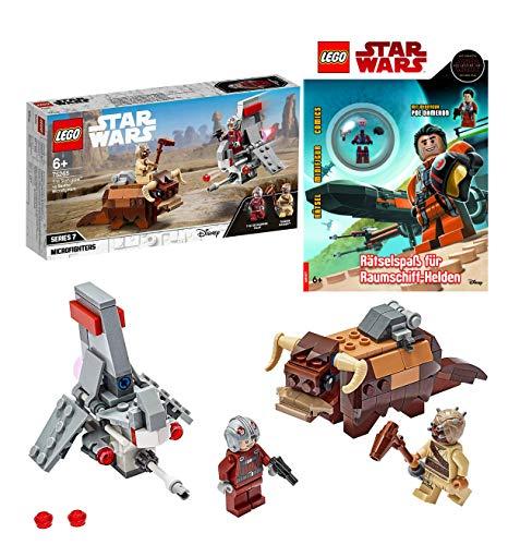Legoo Lego Star Wars-Set: 75265 - T-16 Skyhopper vs Bantha Microfighters + Rätselspaß für Raumschiff-Helden, ab 6 Jahren