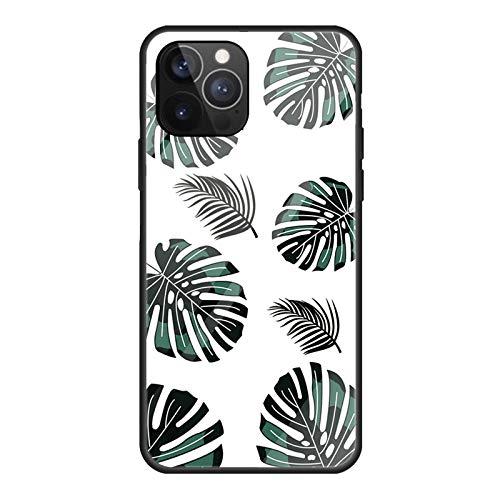 Custodia a filo per iPhone 12 Pro Max, trasparente, rigida, antiurto, antigraffio, perfetta protezione per cellulare, design colorato, retro in vetro