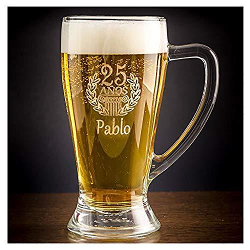Calledelregalo Regalo de cumpleaños Personalizable: Jarra de Cerveza Baviera grabada con su...