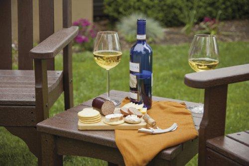 POLYWOOD PWS142-1-MA Vineyard 3-Piece Garden Chair Set, Mahogany