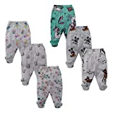 NammaBaby Pajama Leggings with Booties Leggings for New Born Baby - Set of