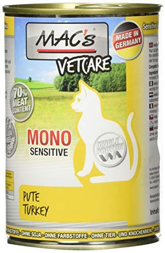 Mac's Katzenfutter getreidefrei Mono Sensitive Pute mit Karotte, 400 g