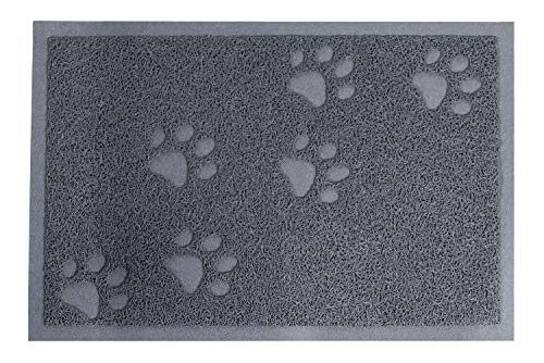 Darkyazi Cat Litter Mat | Small/Large/X-Large| Easy to Clean (15.75' x 11.75',Grey)
