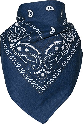 Harrys-Collection Unisex Bandana Bindetuch 100% Baumwolle (1 er 6 er oder 12 er Pack), Farbe:marine