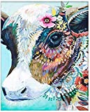 RYJDDP Pintura Digital de Bricolaje, Pintura Digital para niños y Adultos Principiantes, decoración del hogar, Color Vaca-Los 50x70cm