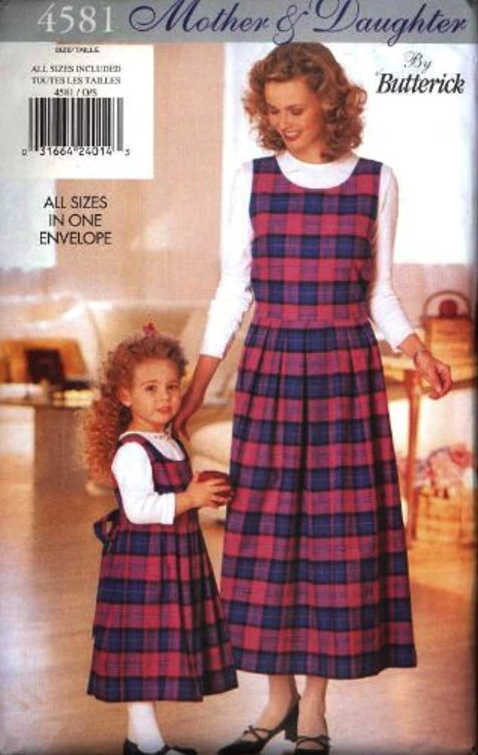 Butterick Sewing Pattern 4581 Mother & Daughter Jumper & Top, Misses' Sizes 6-18, Girls' Sizes 2-6X