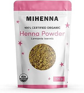 100% Organic USDA Certified Henna Powder for Hair | 100g | Rajasthani | Triple Sifted