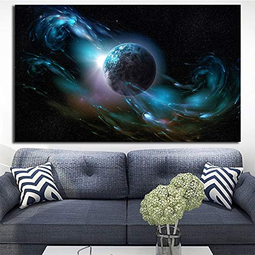 ganlanshu Hochauflösendes Druckraum-Landschaftsplakat für Hauptdekorationswandbild-Wohnzimmer-Sofa,Rahmenlose Malerei,80X120cm