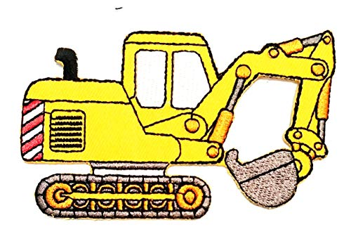 Find Bargain Nipitshop Patches Yellow Backhoe Excavator Tractor Loader Cartoon Embroidered Iron Patc...