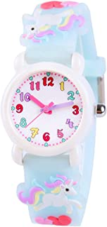 Venhoo Kids Watches 3D Cute Cartoon Waterproof Silicone Children Toddler Wrist Watch Time Teacher Birthday Gift for 3-10 Y...