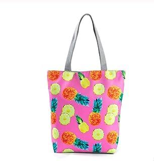 Casual Fruit Watermelon Top-handle Bags Canvas Shoulder Bag For Women Summer Beach Bags High Capacity