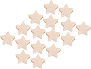 SUPVOX 50pcs Star Bead Jewelry Spacer Beads Wooden Beads for Jewelry Making Accessories