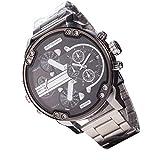 Ganmek Reloj de Pulsera de Cuarzo analógico Deportivo de Cuero de Acero Inoxidable de Lujo para Hombre Multicolor workable