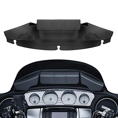 XMMT Batwing Fairing Windshield Storage Pouch Bag 3 Pocket Magnetic Closures For Harley Touring Electra Gilde Street Glide Ultra Limited 2014-2019
