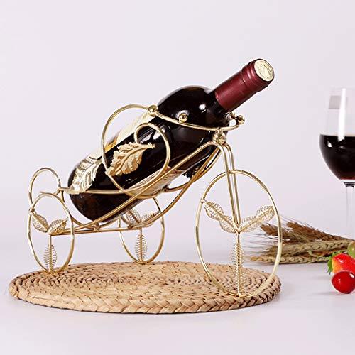MLMHLMR Kreative Weinregal Dekoration Europäischen Ausstellungsstand Weinschrank Dekoration Weinregal Wohnzimmer Eisen Weinflaschenhalter 25x22x8 cm Weinregal (Color : Golden)