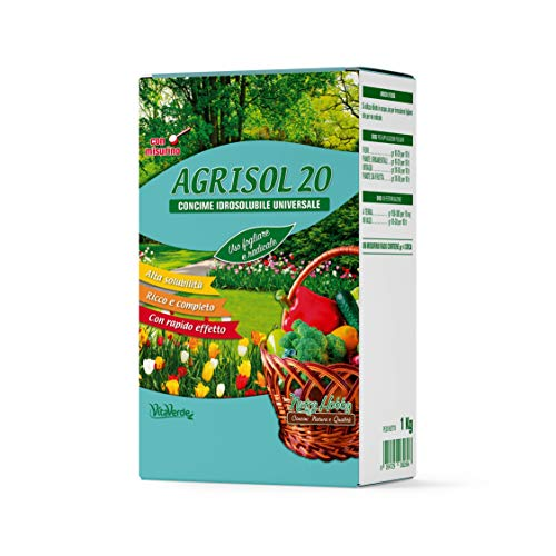 Vitaverde AGRISOL 20, concime polvere solubile per piante e fiori, 1 kg