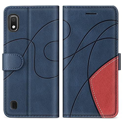 SUMIXON Hülle für Galaxy A10 / Galaxy M10, PU Leder Brieftasche Schutzhülle für Samsung Galaxy A10 / Galaxy M10, Kratzfestes Handyhülle mit Kartenfächern & Standfunktion, Blau
