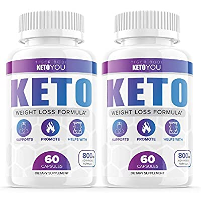 (2 Pack) Keto You Diet Pills 800mg Supplement, Ketoyou Advanced Weight Formula for Women and Men, Exogenous Ketones for Rapid Ketosis (120 Capsules)