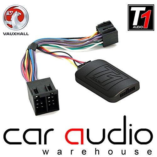 Adaptador de interfaz de control para volante de coche con cable de conexión T1Audio T1-VX1 para Opel Astra G, Omega, Aglia, Meriva, Vivaro Zafira A, Vectra B/C, Corsa C, Corsa Combo Van Vivaro